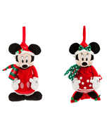 Disney Store Minnie Mickey Mouse Plush Christmas Stocking Red 2018 - $59.95+