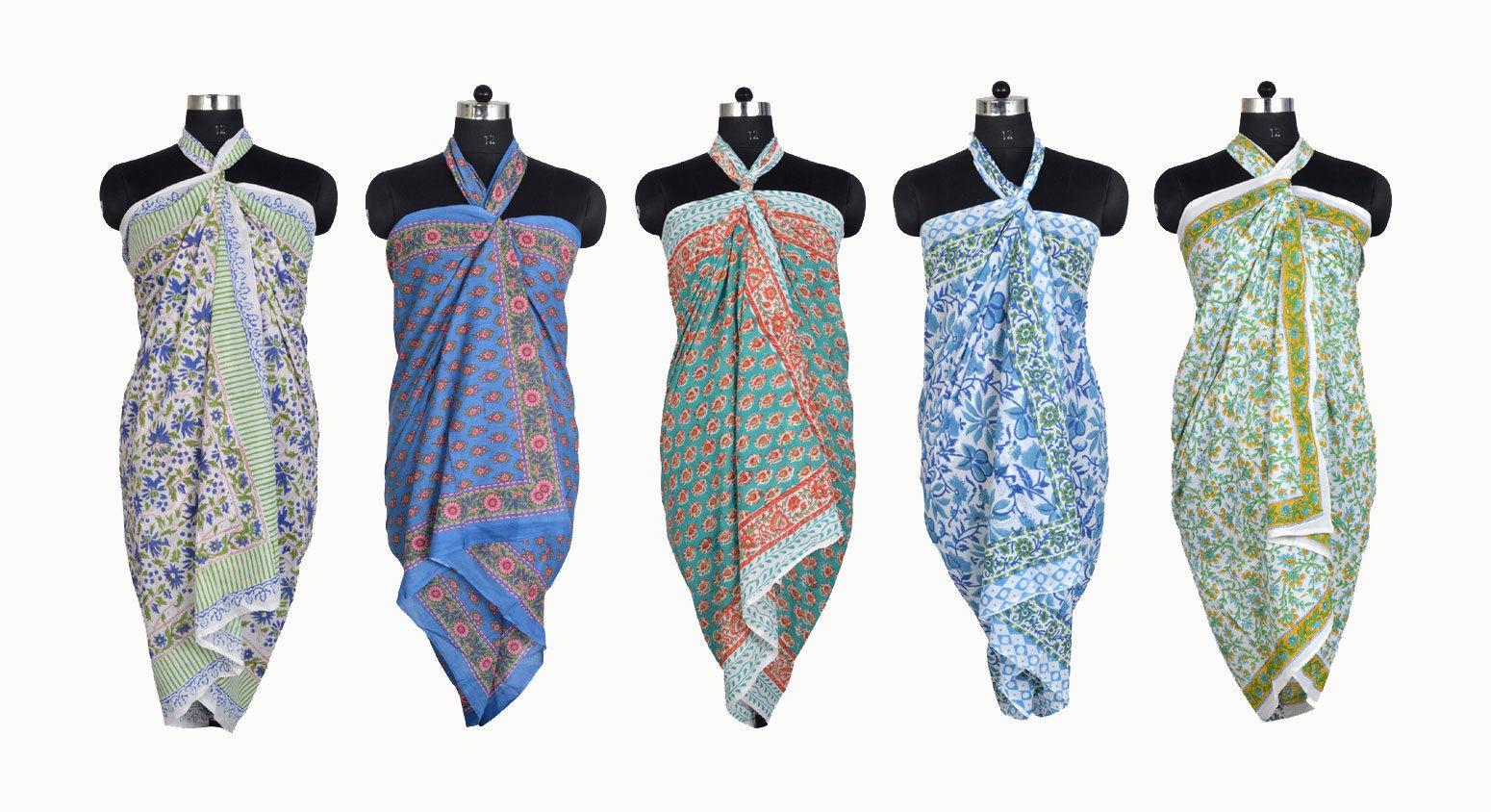 c9f3ef5973dda S l1600. S l1600. Previous. Block Print Cotton Beach Wrap Long Sexy Sarong  Cover-Up Swimwear Pareo ...