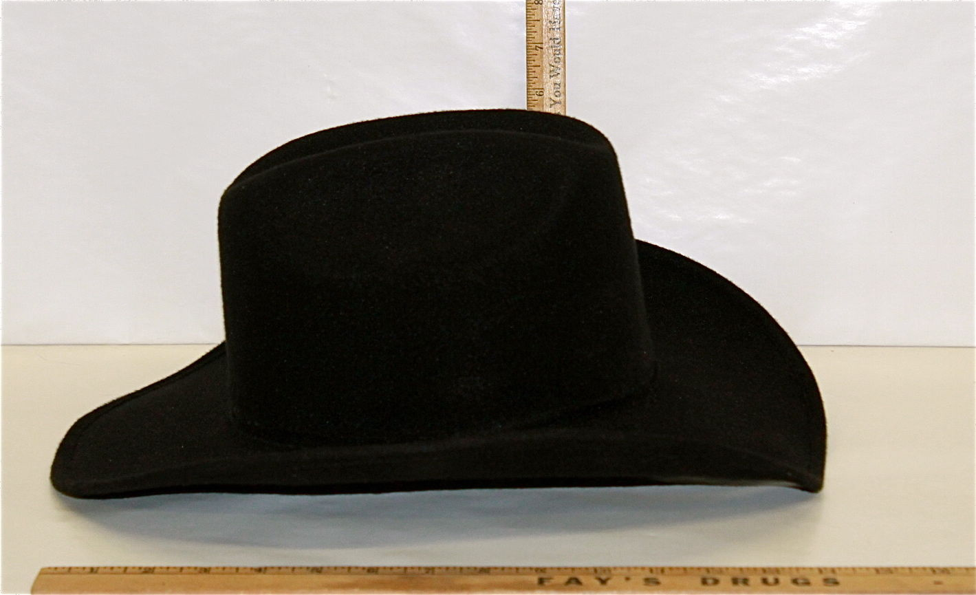 d1f42b98c3e S l1600. S l1600. Previous. Men s Black Western Cowboy Hat Pigalle Santo  Nino Sombrero Mexico Felt Lg 7 3 8
