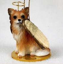CHIHUAHUA (LONG HAIRED) ANGEL DOG CHRISTMAS ORNAMENT HOLIDAY  Figurine S... - $12.98