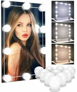 Make Up Mirror Lights 10 LED Kit Bulbs Vanity Light Dimmable Lamp Hollyw... - $11.99