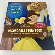 Hallmark BEAUTY & THE BEAST YOU'RE MY FAVORITE GUEST Recordable Storyboo... - $56.09