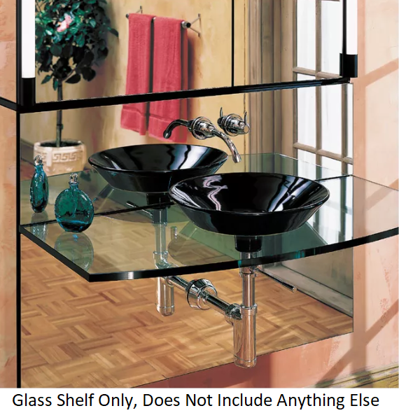 Primary image for Robern RMPS24D4 M Series Glass 24 inch  x 4 inch Shelf