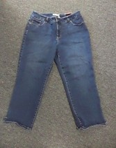 CHICO'S Medium Wash Cotton Blend So Slimming Casual Cropped Jeans Size 2... - $39.59