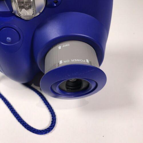 Fujifilm Instax Mini 7s Navy Blue Instant Film Camera Works Great