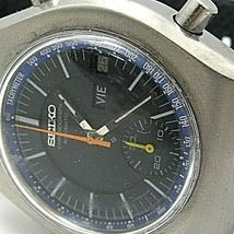 SEIKO VINTAGE 6139-7002 AUTOMATIC CHRONOGRAPH COMPLETE SERVICED sports band image 3