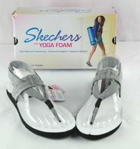 Skechers Meditation Studio Kicks Sandals Womens Sz 10 Gray black Yoga Fo... - $22.50