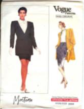 Vogue 2229 Claude Montana 1980s Skirt Suit Pattern Big Shoulders Size 14... - $14.54