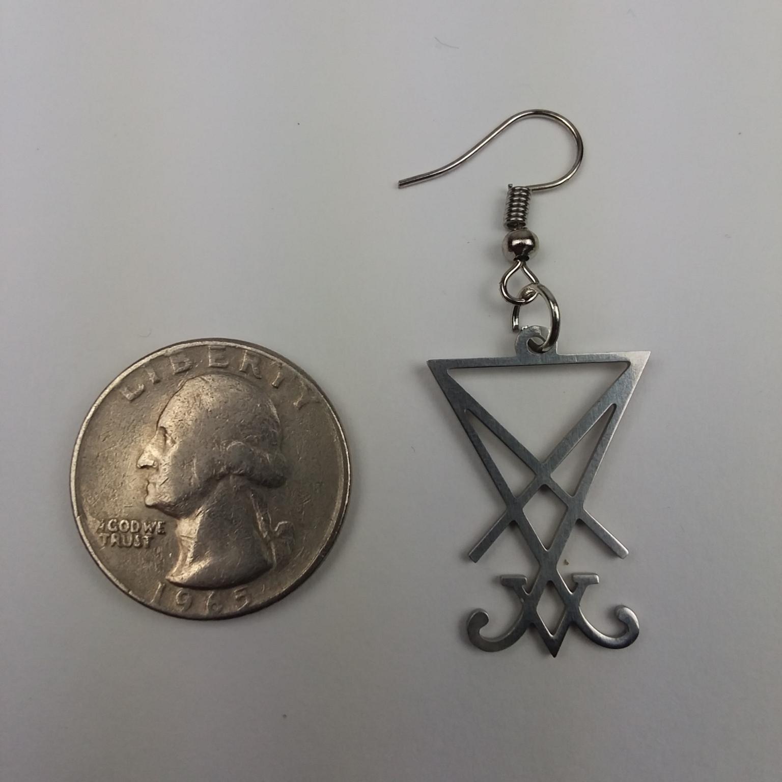 Sigil of Lucifer Earring Set