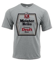 Meister Brau Dri Fit graphic Tshirt moisture wick sun protection apparel SPF tee image 2