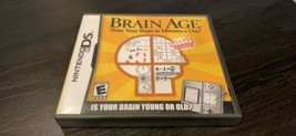 Brain Age: Train Your Brain in Minutes a Day For Nintendo DS Complete - $12.99