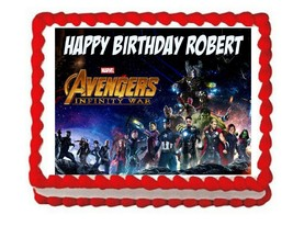 Avengers Infinity War party edible cake image cake topper frosting sheet* - $7.80