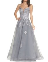 Women's 2018 Halter Prom Dresses Lace Appliqued Empire Waist Formal Party Gown - $108.99