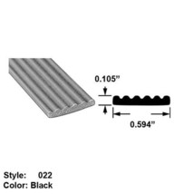 """Water/Weather Resistant Foam Rubber Surface Mount Seal, Ht 0.105"""" x Wd 0.594"""" - $47.65"""