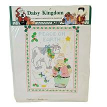 Vtg Bucilla Daisy Kingdom Stamped Cross Stitch Sampler Sp Ed Christmas 63448 NOS - $12.26