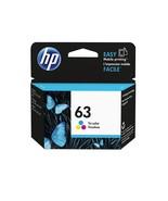 Genuine New HP 63 Tri-color Original Ink Cartridge (F6U61AN) Exp 2022 - $18.49