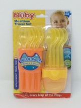 Nuby 9-Piece Fork and Spoon Travel Set Compact Case - Yellow/Orange - $9.50