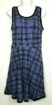 Ann Taylor LOFT Purple Black Sleeveless Lace Overlay Fit Flare Dress Siz... - $48.33