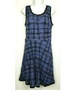 Ann Taylor LOFT Purple Black Sleeveless Lace Overlay Fit Flare Dress Siz... - $43.50