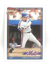 1991 Topps Baseball Card #30 - Gregg Jefferies - New York Mets - 2B - $0.99