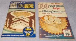 Pillsbury Grand National Recipe and Baking Contest no 5 and 6 1954 1955 Lot - $19.95