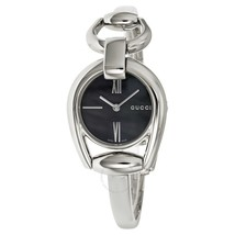 Gucci Horsebit Collection Swiss Quartz Silver-Tone Women's Watch YA139503 - $395.01
