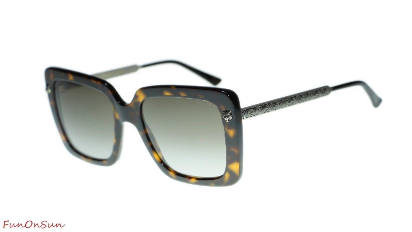 bfd2fbb3b5c 10. 10. Previous. Gucci Women s Sunglasses GG0216S 002 Havana Brown  Gradient Lens Square 53mm. Gucci Women s ...