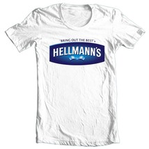Hellmann's T-shirt retro 1913 vintage 1980's 100% cotton graphic white tee image 2