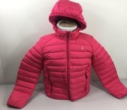Polo Ralph Lauren Girls Puffer Jacket XL 16 Pink White Pony - $62.00