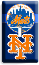 New York Mets Ny Baseball Mlb Single Light Switch Plate Man Cave Room Decoration - $8.99