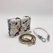 100% AUTH LOUISE VUITTON PETITE MALLE EPI WHITE CHAIN BAG LEATHER image 2