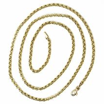 18K YELLOW GOLD ROLO CHAIN 2.5 MM, 16 INCHES, NECKLACE, CIRCLES, MADE IN ITALY image 3