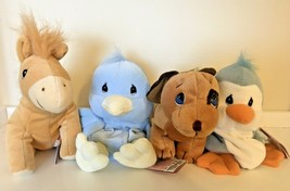 Precious Moments Plush Tender Tails Dog Horse Duck Penguin Pre Owned w T... - $7.50