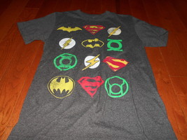 Batman DC Comics Green Lantern Flash Batman Superman group T Shirt sexy small S - $11.00