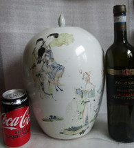 AI Late 19th Century CHINESE PORCELAIN Signed Large Lidded Urn Pot Old A... - $168.30