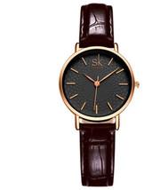 High Quality Leather Belt Ladies Waterproof Wrist Watch Luxury Female Je... - $8.98
