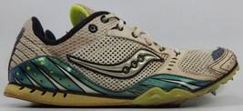 Saucony Velocity 3 Größe 8,5 M (B) Eu 40 Damen Track Schuhe Weiß Grün 10037-1