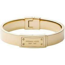 NWT Michael Kors Bracelet Gold Logo Plaque Bangle MKJ2351710 - $74.95