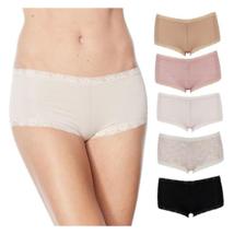 Maidenform Women's Microfiber and Lace Boy Shorts 5PK (Multicolor,  2XL) - $16.24