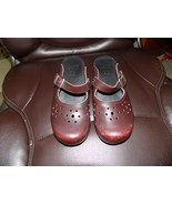 Dansko Shoes Brown MERRIE Leather Mary Janes Buckle Strap Clogs Size 38 ... - $33.21