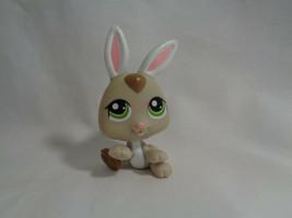 Littlest Pet Shop Hasbro Tan Bunny Rabbit Green Eyes #1334 - As Is - $1.95
