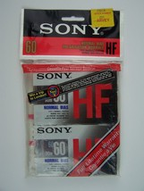 Sony HF Type 1 Normal Bias 60 Minutes Cassette Tape 2 Pack New Sealed - $8.01