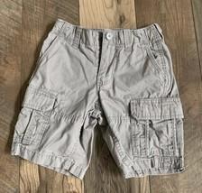 Gap Kids Gray Cargo Shorts Size 6 Years Clip Waste, Multi Pocket - $8.95