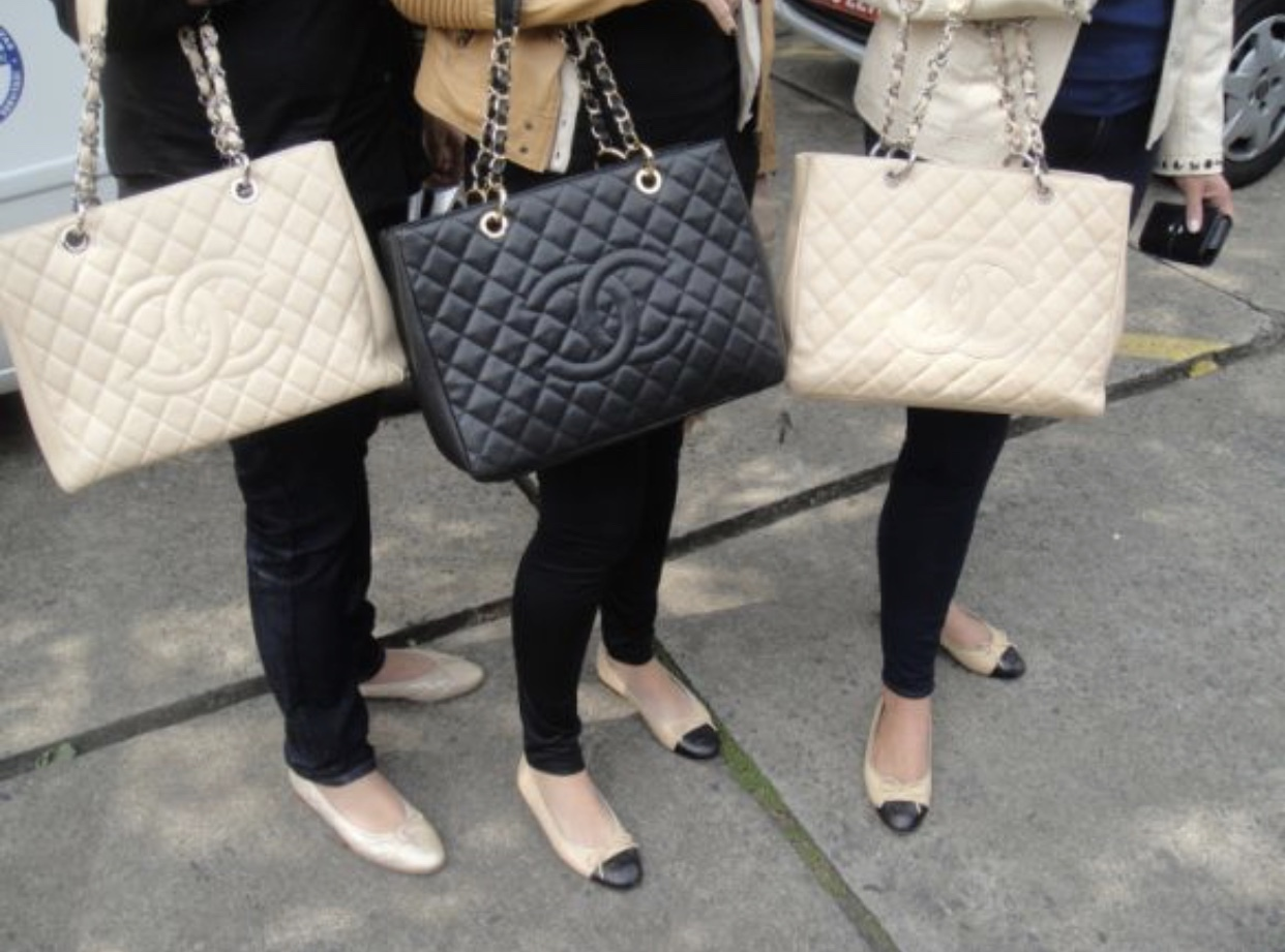 Authentic Chanel Quilted Caviar Gst Grand Shopping Tote
