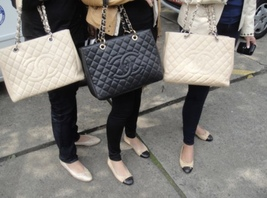 AUTHENTIC CHANEL QUILTED CAVIAR GST GRAND SHOPPING TOTE BAG BEIGE SHW RECEIPT  image 10