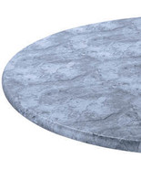 Marbled Elasticized Table Cover-40-44DIAROUND-GRAY - $23.73