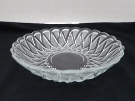 Pretzel Pattern Soup Bowl from Indiana Glass No. 622 Clear with Frost 7.5 inch - $12.86