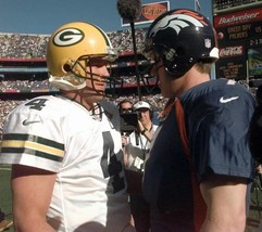 Brett Favre & John Elway 8X10 Photo Green Bay Packers Picture Football Broncos - $3.95