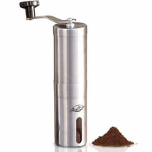 JavaPresse Manual Coffee Grinder with Adjustable Setting - Conical Burr ... - $87.44