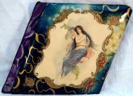 Antique School Autograph Book with Art Nouveau Lady on cover 1904 - $129.95